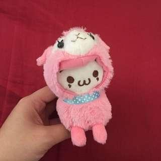 Kaomoji Pink Alpaca Toy