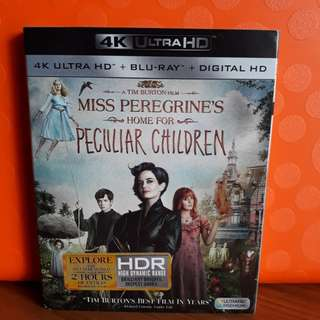 USA Blu Ray Slipcase - Miss Peregrine 4K