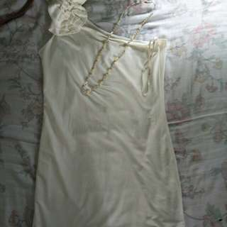 Pre-Loved F21 White Dress w/ Free Necklace