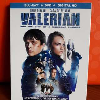 USA Blu Ray Slipcase - Valerian