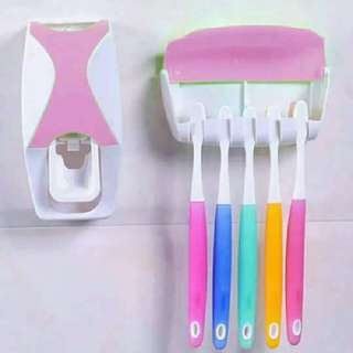 Toothpaste Dispenser/ Toothbrush Holdet