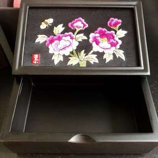 BNIB Korean Yega Hand Embroidered Wooden Box
