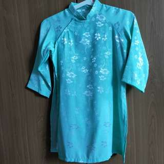 Silk Mint Green Traditional Costume