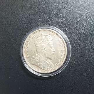 1904 Straits Settlement Silver Dollar