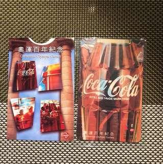 奧運百年紀念可口可樂磁石貼連套1996年