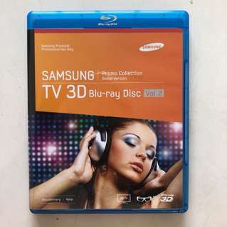 Samsung Promo Collection Blu-ray Disc for 3D TV; include 3 Disc, 5 languages option, can view on 2 Or 3 Dimension