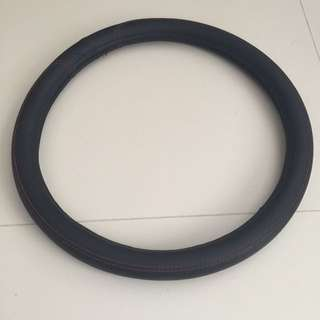 Steering wheel leater cover