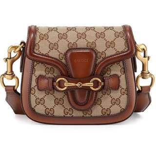 Gucci Lady Web Small GG Canvas Shoulder Bag
