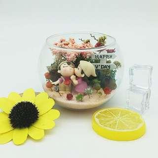 Preserved flowers terrarium 愿得一人心,白首不分离
