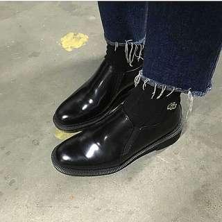 dr Martens Rosyna slip on black leather shoes