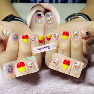 Gelish manicure/pedicure with stickers!