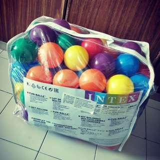 Bag of plastic balls