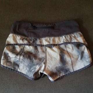 LULULEMON Run:Speed shorts Size 2/Aus 6 Grey Smoke print