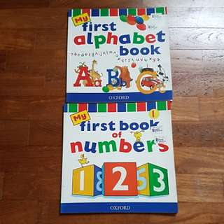 Pre-school children books Alphabet and numbers
