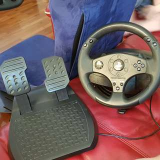 Thrustmaster T80 racing wheel and pedals