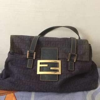 Authentic Blue Fendi Tote Bag Pre Owned/ Pre 💌