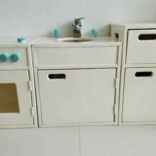 Montessori furniture wooden kitchen