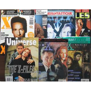 Big lot of X-Files Magazines - Cinefantastique, Sci Fi Universe, etc.