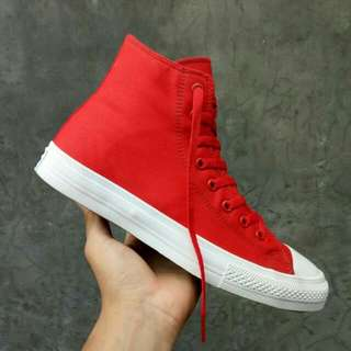 CHUCK TAYLOR II HIGH RED WHITE PREMIUM BNIB MADE IN VIETNAM Size:40/41/42/43/44