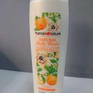Human Nature Vanilla Peach Body Wash