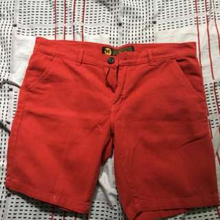Folded & Hung Red Summer Shorts Fits Size 31