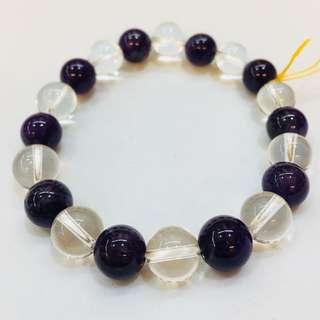 🚚 《佛緣》紫白水晶手鍊