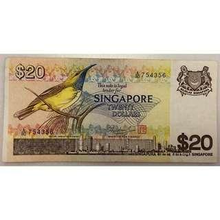 Singapore Bird Series $20 Note