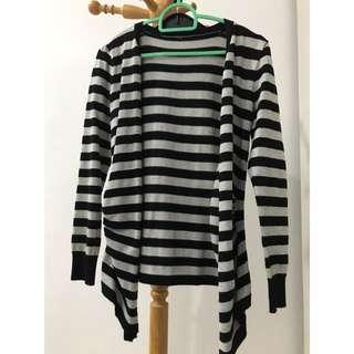 Black & Grey (stripes) Cardigan