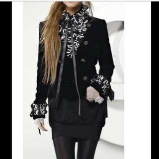 Chanel velet balzar jacket show piece