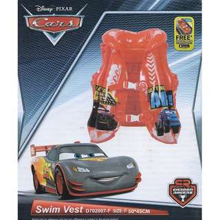 Disney Pixar Cars Red Inflatable Swimming Vest Float