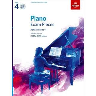 Brand New!! ABRSM Piano Exam Pieces Grade 4 with CD