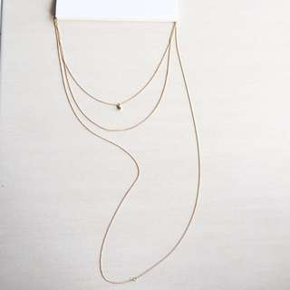 F21 Long Trendy Layers Necklace