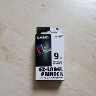 Casio EZ-Label Black Ink on White Label
