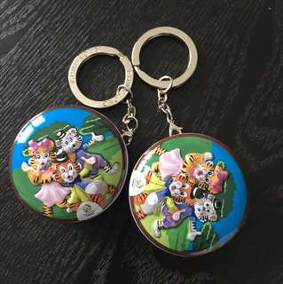 Changlong zoo key chain with coin container