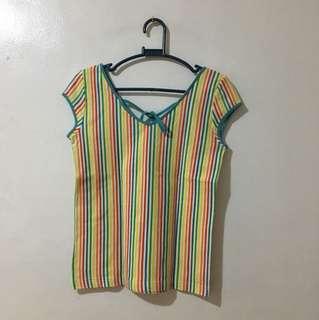 Rainbow Striped Top