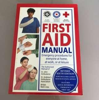 First aid manual book