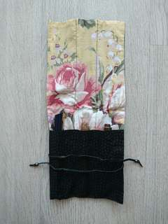 Japanese Pen Pencil Wrap Roll Case Cover