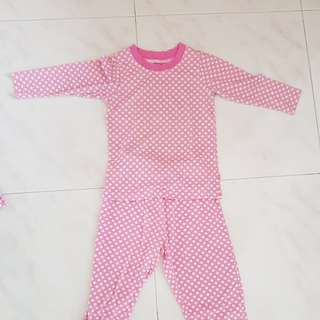 Pjamas for girls up to 4 years old