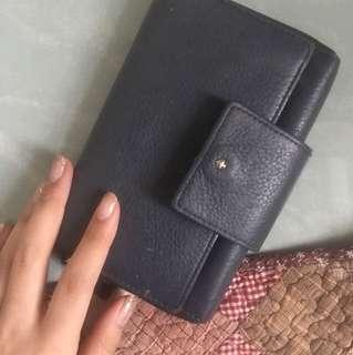 katespade銀包 深藍 wallet
