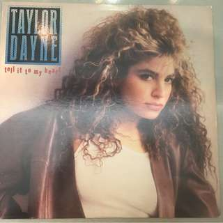 Taylor Dayne ‎– Tell It To My Heart, Vinyl LP, Arista ‎– AL-8529, 1988, USA