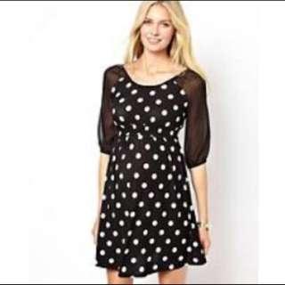 ASOS Maternity Polkadots Dress UK 14