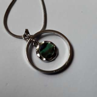 antique silver chain with pendant