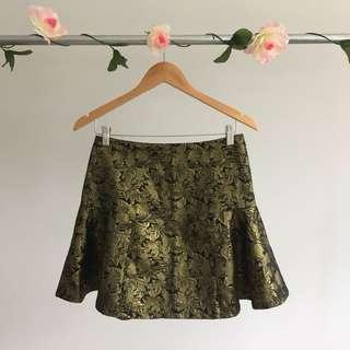 BNWOT Gold Skirt