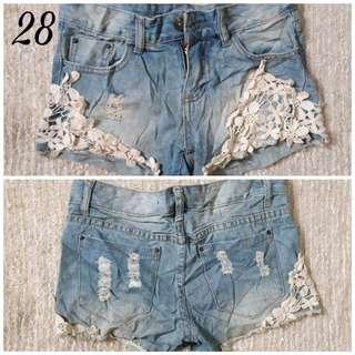Denim shorts 46