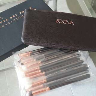 Rose Gold Eye Brush & Clutch set