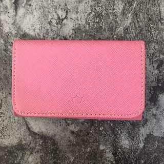粉紅色電話套卡片套 mobile card holder