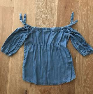 Forever new off shoulder denim top