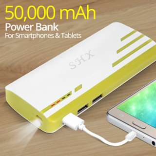 [ON-HAND] SHX Multicolor Universal 3 USB Port 50,000mAh Power Bank for Smartphones & Tablets - GRAY