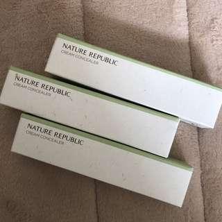 Nature republic cream concealer (light beige)