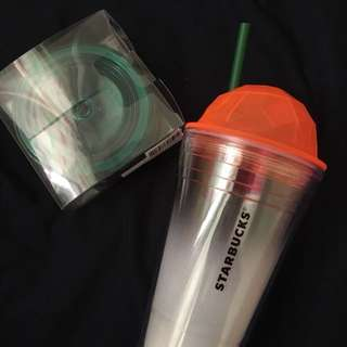 Starbucks Tumbler with Straw and Cold-to-Go Lids